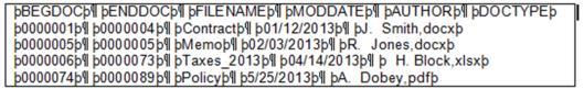 concordance load file